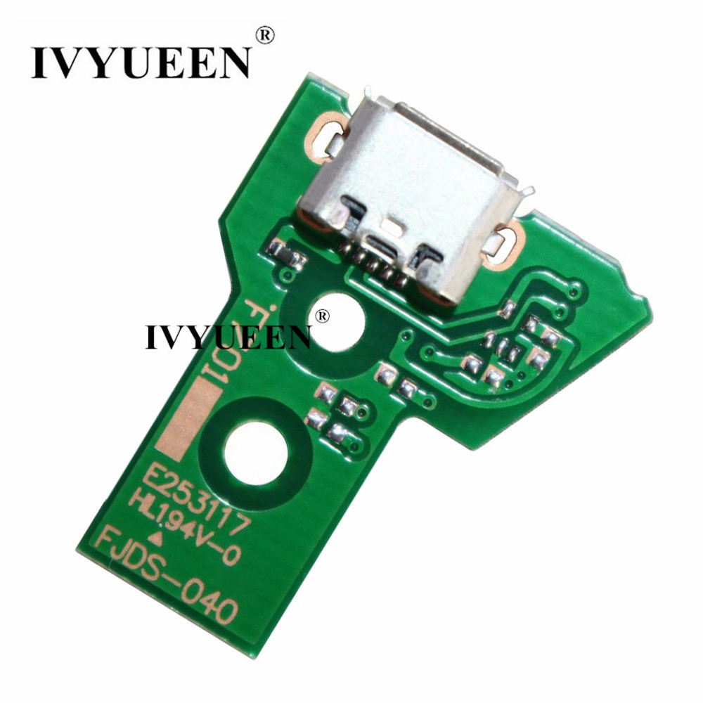 IVYUEEN Charger Socket Port Circuit Board For Playstation 4 Dualshock 4 PS4 Pro Slim Controller JDS 030 040 011 001 055