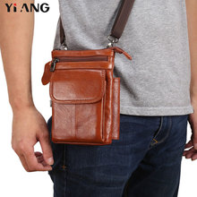 Soft Touch Genuine Leather Shoulder Bags Casual Business Messenger Bag Vintage Crossbody Single Traveling Waist