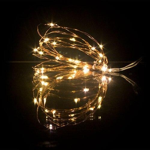10M 33FT 100led 3AA Batteri Dekoration LED Kobber Wire Fairy String Lights Lamper til Christmas Holiday Wedding Party Lighting