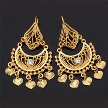 U7 Ethnic Earrings Indian Jewelry Classic Dangle Party Gift Silver Gold Color Rhinestone Tassels Drop Earrings For Women E3030