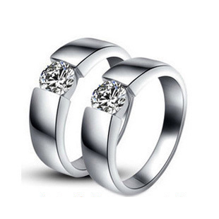 79dffeac8 Factory Sale High Quality Synthetic Diamonds Rings For Lover Wedding  Engagement Couple Ring Glaring sterling silver Jewelry 925-in Engagement  Rings from ...