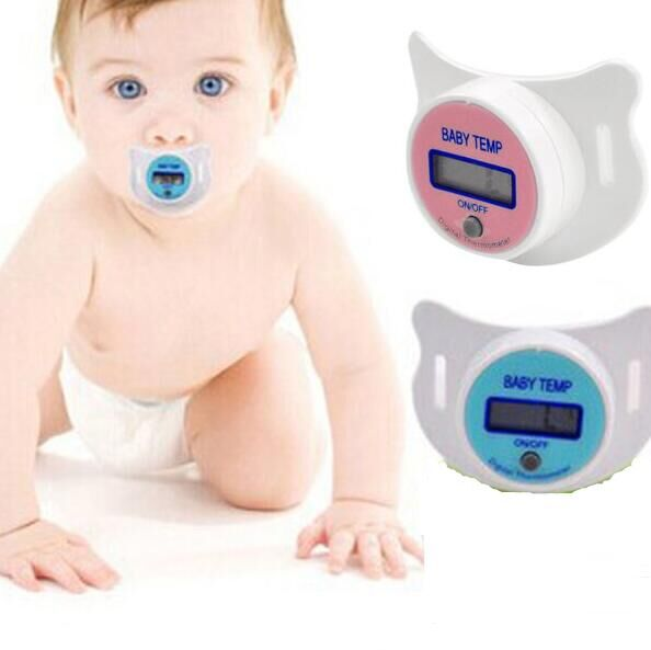 Health Monitors Portable Mouth Nipple digital waterproof Thermometer LCD Infant Baby Pacifier Temperature baby product #17