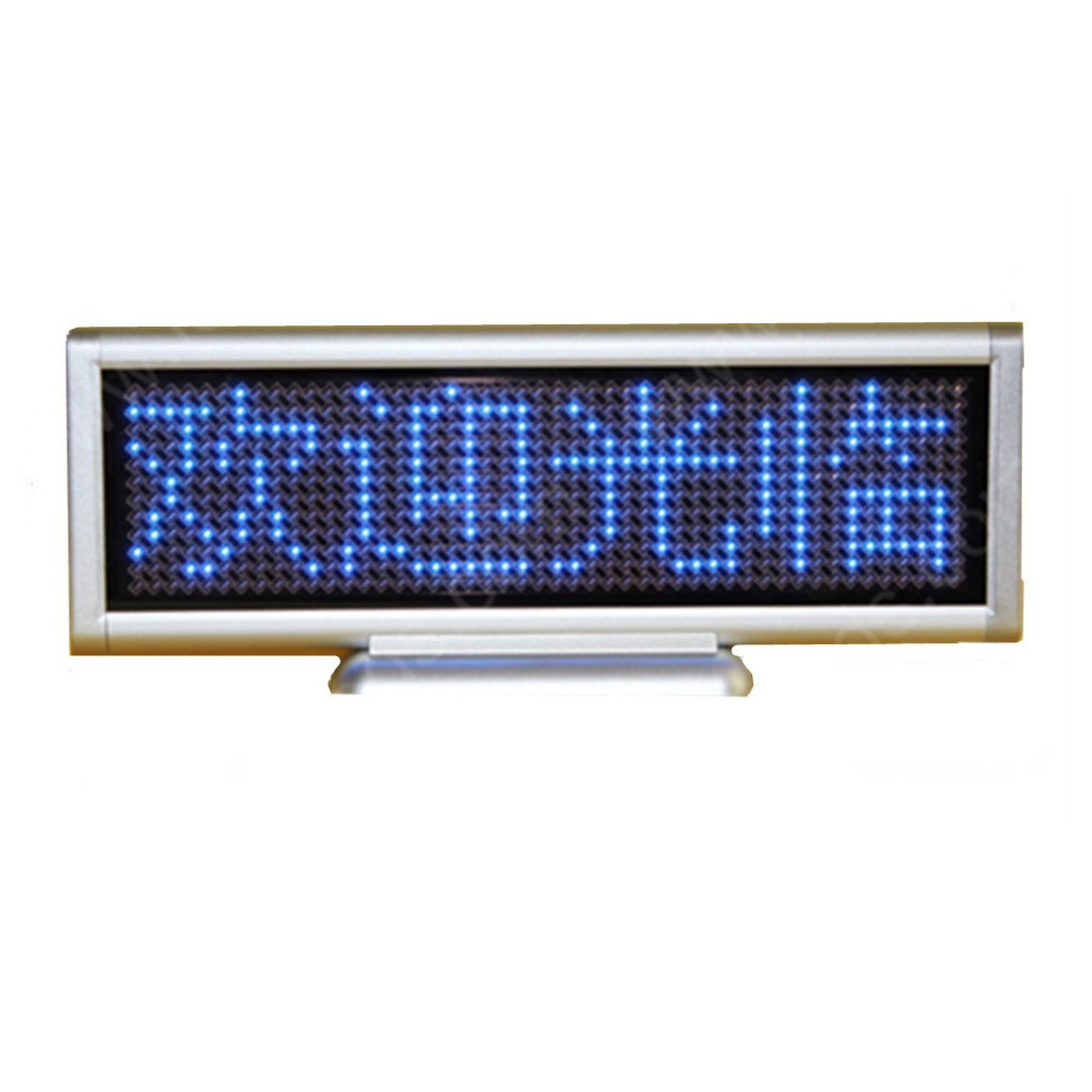 Programmable Led Moving Message Sign Board Blue Color Displays