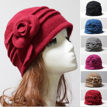 New Dome Fedora Middle aged ladies Wool Hat Mom Hats in Autu