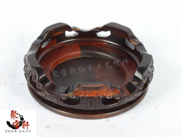 Red rosewood carving handicraft annatto circular base of real wood of Buddha stone vases furnishing articles in Coffee Tables from Furniture