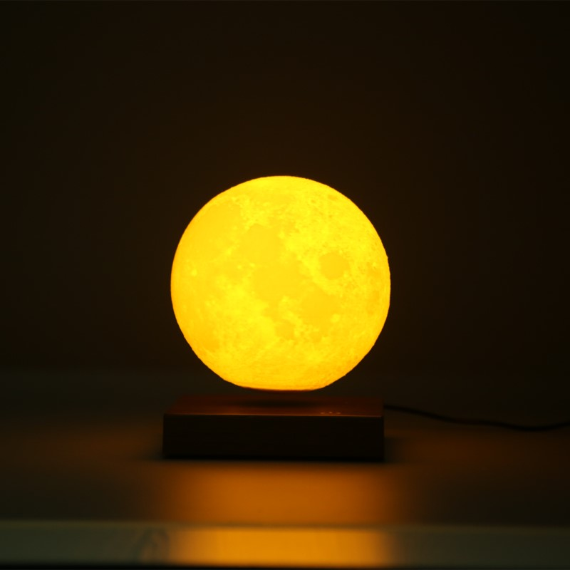 15CM Maglev Floating Led Table Light 3D Moon Touch Night Lamp for Children Kids Baby Gift Decorative Bedside Bedroom Living Room creative cute green cartom car led night light for children baby kids white warm white bedside lamp resin night lamp gift