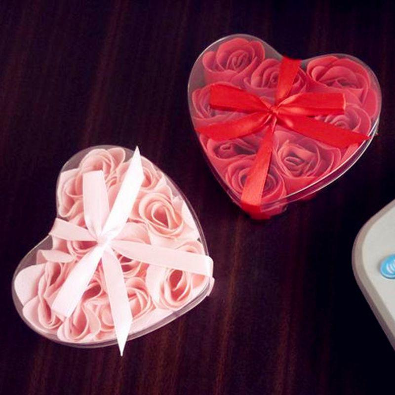 Flor de jabón Romantic Love Roses - Flor grande roja o rosada - Para fiestas y celebraciones