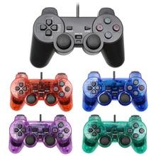 Para ps2 com fio controlador choque remoto para ps2 game console controle para sony ps2 wired joypad gamepad para crianças presente