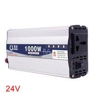 600W 1000W 12V 24V To 220V Portable Power Inverter LED Display Surge Protection Car Converter Pure Sine Wave Adapter Home Use