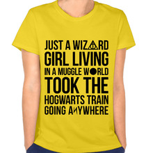 New Fashion Just A Wizard Girl Woman's T-shirt Vogue Tees T-shirt for Women