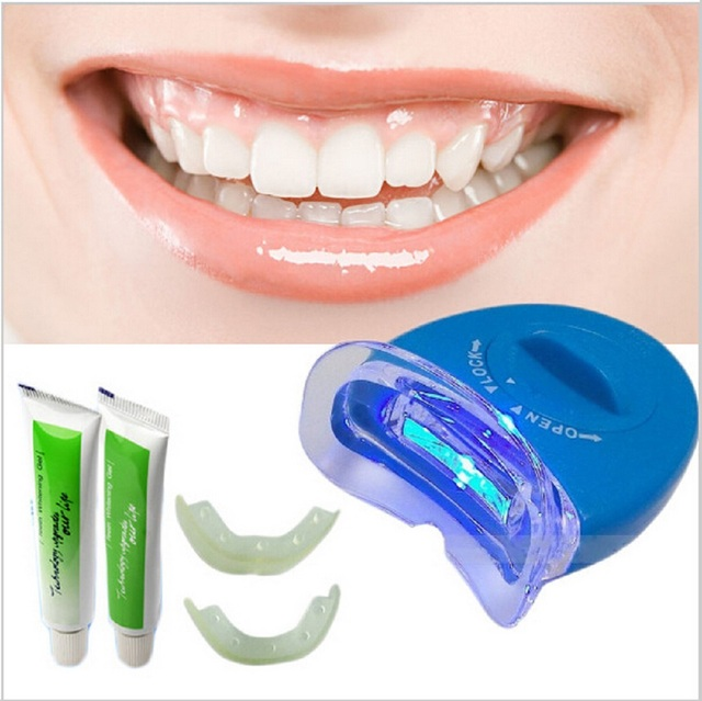 Kit Casa Dentes Clareamento Dental Gel Branco Oral Clareamento Dos