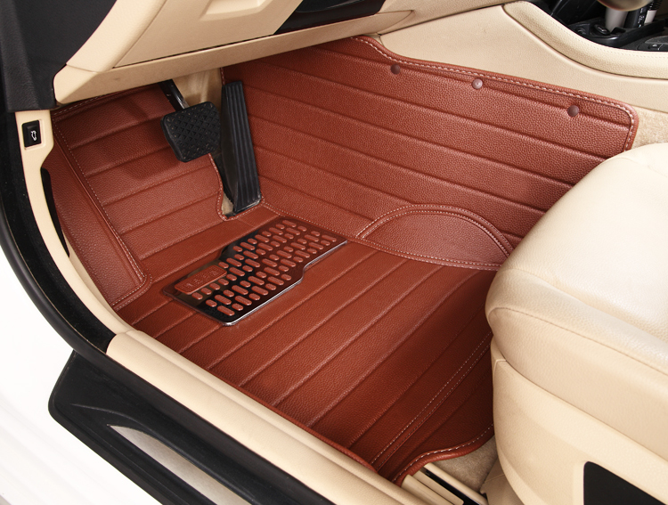 non slip waterproof wholly surrounded Ottomans special leather car mats for VEZEL non slip easy clean no odor green carpets