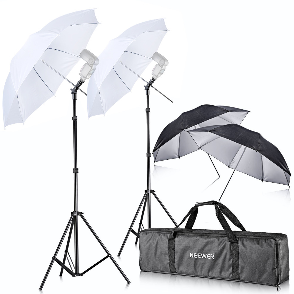 Neewer Off Camera Double Speedlight Flash ShoeMount Swivel Soft Umbrella Kit for Canon 430EX II 580EX II 600EX-RT Nikon SB600 рассеиватель canon ii 430ex yn500ex