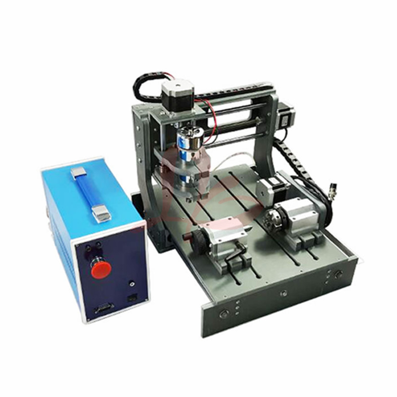4Axis DIY wood cnc router 2030 300W spindle cnc Engraving Drilling and Milling Machine russia no tax diy 3040 4axis mini cnc router engraving drilling and milling machine for wood metal cutting