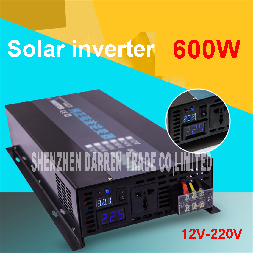 ФОТО LED display Off grid solar inverter RBP-600S 12/24/48VDC to 110/220VAC 600 W nominal sinusoidal Pure Wave Power Inverter