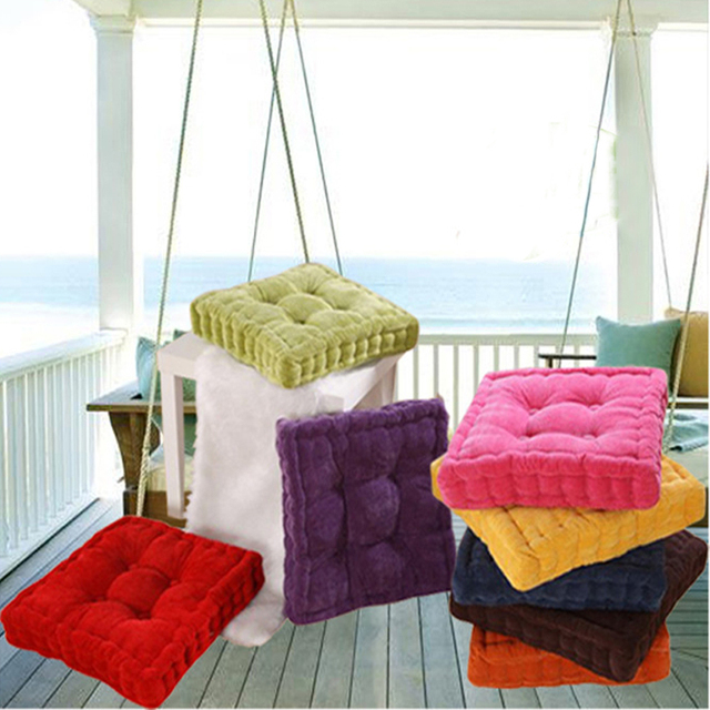 1 Pc Forme Carre Plaid Pais Hiver Chaud Coussin De Chaise Doux Lavable Coton Domicile