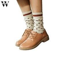 2017 Unisex Polka Dot Cotton Socks Multi-Color Women's Men's Winter Socks