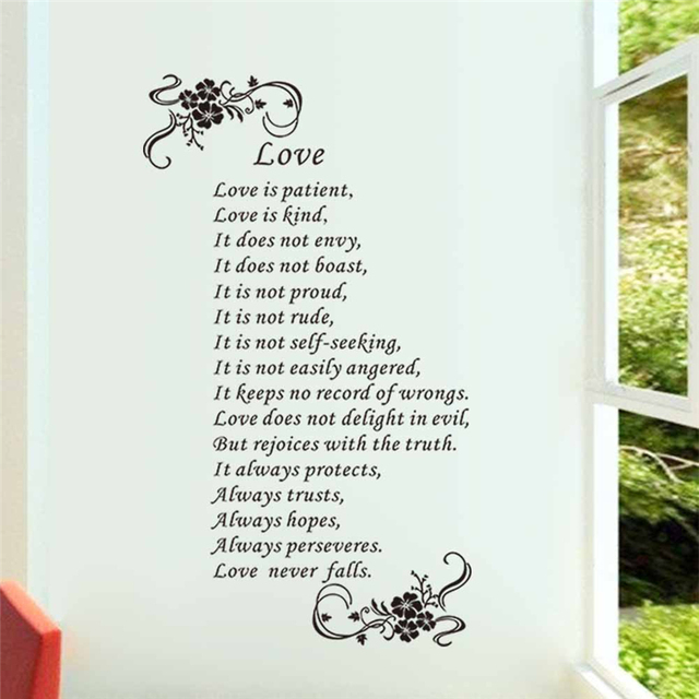 Love Is Patient Love Is Kind Love Never Falls Christ Bible Quotes