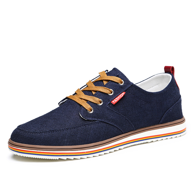 AKZ Spring Summer loafers Men 39 s casual shoes Canvas shoes for Man Denim Comfortable Breathable Walking Shoes Male Flats Lace up in Men 39 s Casual Shoes from Shoes