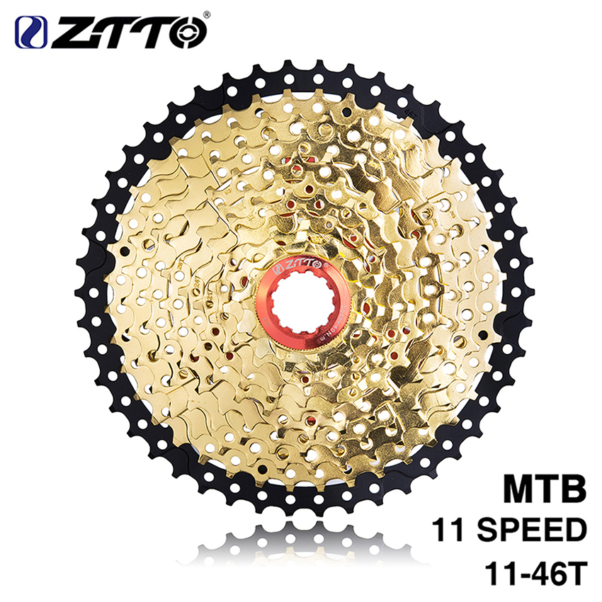 ZTTO Gold MTB Mountain Bike 11 Speed 11-46T Freewheel Cassette Steel For Shimano XT SLX SRAM X1 X01 GX NX 1X Bicycle Parts 2018 anima 27 5 carbon mountain bike with slx aluminium wheels 33 speed hydraulic disc brake 650b mtb bicycle