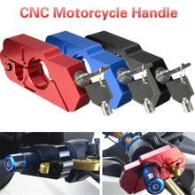Suku Cadang Sepeda Motor Tanduk Kunci CNC Modifikasi Aksesoris Handle Rem Horn Lock Anti-Theft Lock Dimodifikasi Stang Lock(China)
