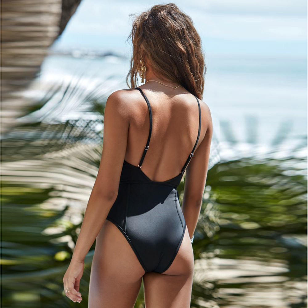 us 2018 women one piece sexy bikinis swimsuit push-up padded bra print bathing swimwear jumpsuit summer beach suits bikinis 2018 limited korean national small fragrant spa chest sexy blouse gather cover belly thin bikinis four piece female swimsuit