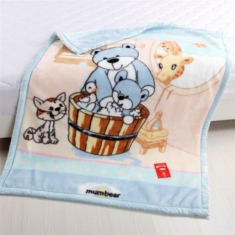 Free Shipping Raschel Thickening Double Layer Child Blanket Coral Fleece Flannel  Baby Blanket Children's Bedding 103cmx 130cm