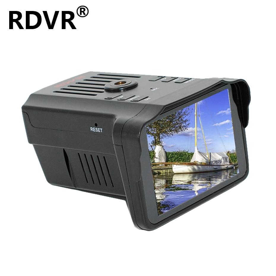 RDVR Car Camera Recorder Video-Registrator Anti-Speed-Radar-Detector Dash-Cam Russian