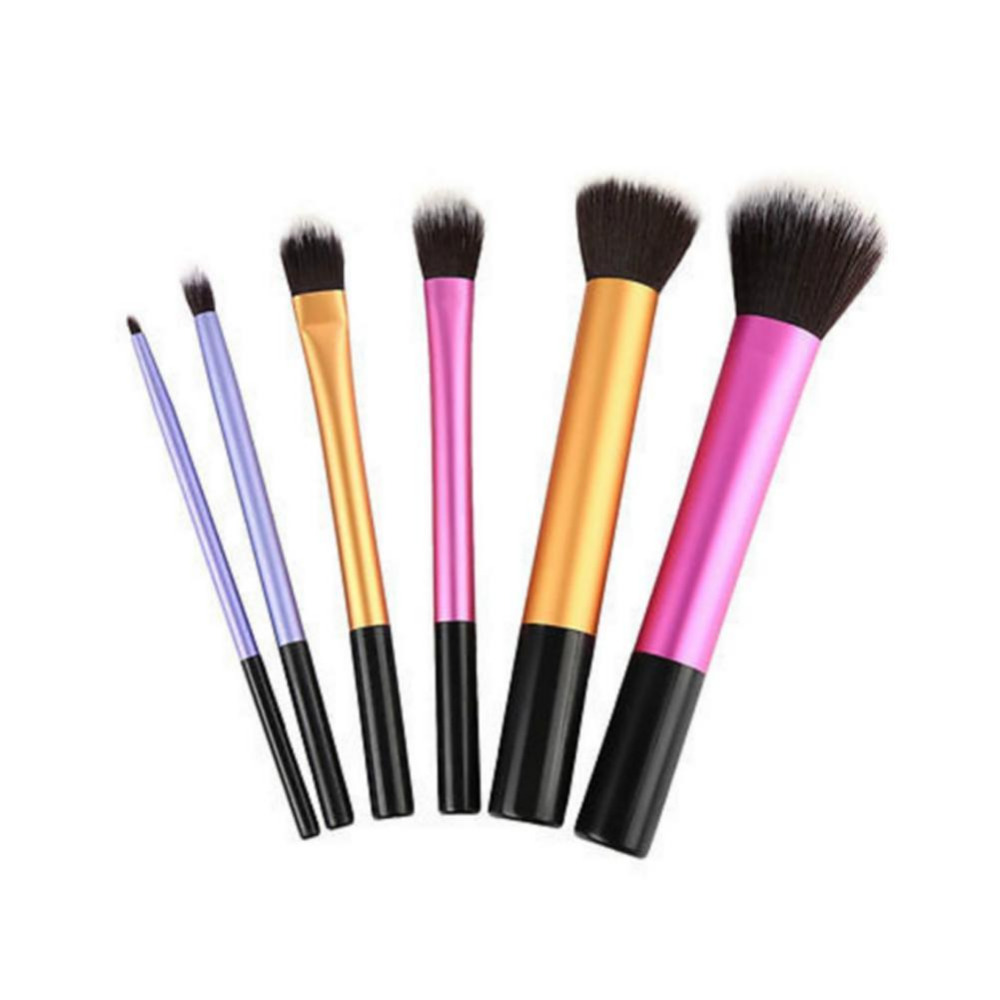 6 PCS Makeup Brushes Set Tools Make-up Toiletry Kit  Make Up Brush Set Case Cosmetic Foundation Brush new professional 15 pcs makeup brushes set tools make up toiletry kit make up brush set case cosmetic foundation brush