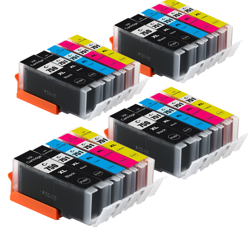 PGI-750 CLI-751 750BK Compatible Ink Cartridge For Canon PIXMA MG5470 MG6470 MX727 MX927 Ip7270 IX6770 MG5570 IX6870 Printer