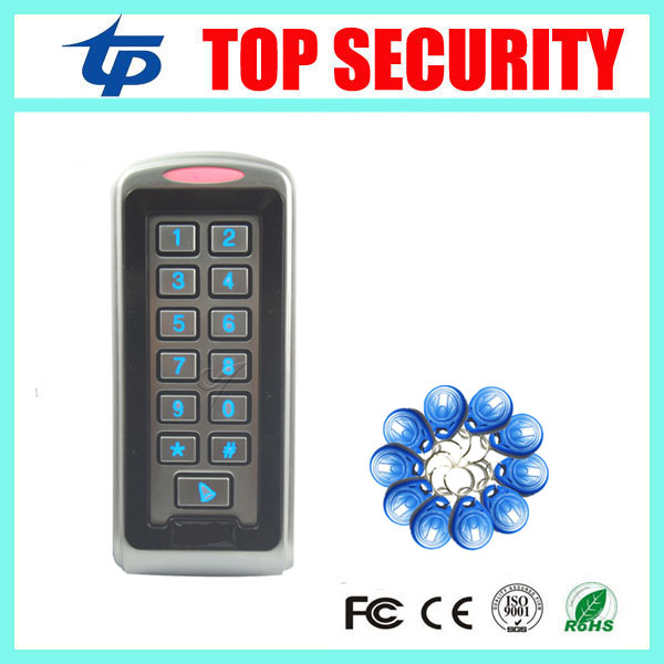 все цены на Good quality surface waterproof RFID card metal access control system with weigand in/out 125KHZ ID card door access controller онлайн