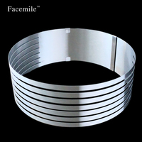 Big Style Baking Tools Stainless Steel Layered Mousse Rings Round Cake Mold Cooking Tools Pastry Cutter 01113 Gift
