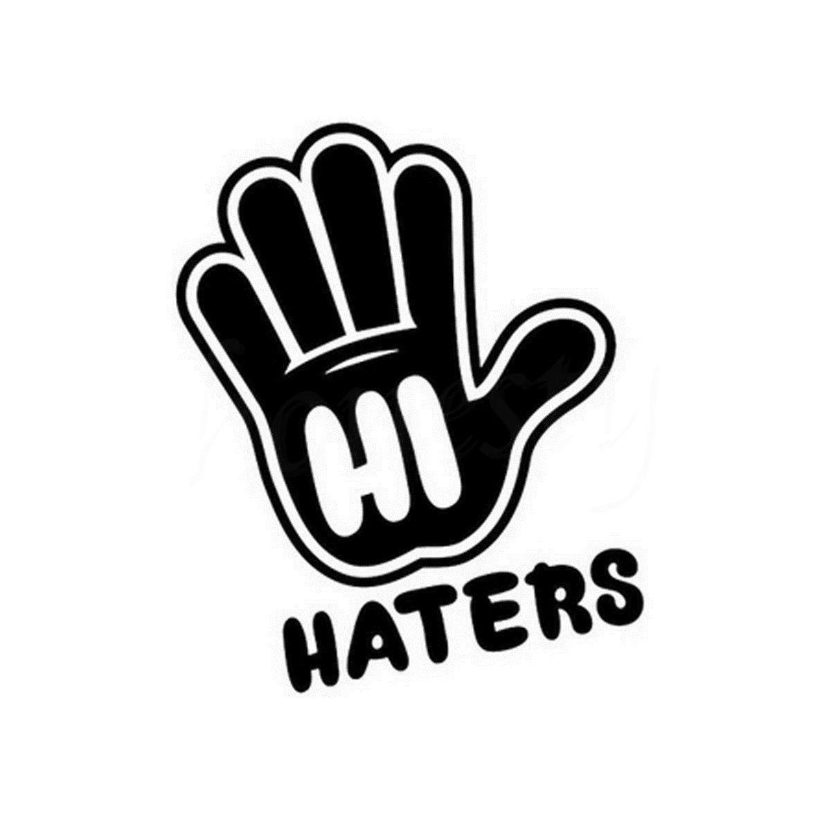 Привет Ненавистники Стороны Дома Стены Стеклянные Двери Окна Автомобиля Наклейку Для Ноутбука Грузовик Мотоцикл Черный Винил Стикера этик...