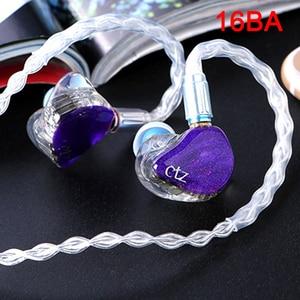 Image 1 - CTZ DIY Custom Made 16BA Balanced Armature Unit Drivers 0.78mm 2 Pin Earphone DJ Noise Canceling Headphone for iPhone xiaomi