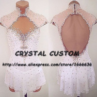Crystal Custom Ice Figure Skating Dresses For Girls New Brand Ice Skating Dresses For Competition DR4498