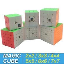 Sihirli küp 3x3x3 2x2x2 4x4x4 5x5x5 6x6x6 7x7x7 anahtarlık Cubo Magico 2x2 3x3 4x4 5x5 6x6 7x7 bulmaca neo küp çanta standı oyuncak çocuk