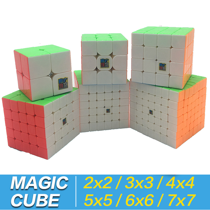 Magic Cube 3x3x3 2x2x2 4x4x4 5x5x5 6x6x6 7x7x7 Keychain Cubo Magico 2x2 3x3 4x4 5x5 6x6 7x7 Puzzle neo Cube Bag Stand Toy Kid