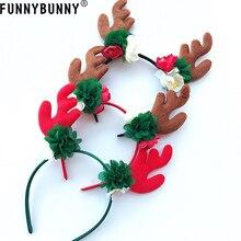 FUNNYBUNNY Kids Christmas Reindeer Antler Headband Xmas Party Flower Crown Reindeer Antler Hair Hoop Party decoration Supplies antler marcus page 8