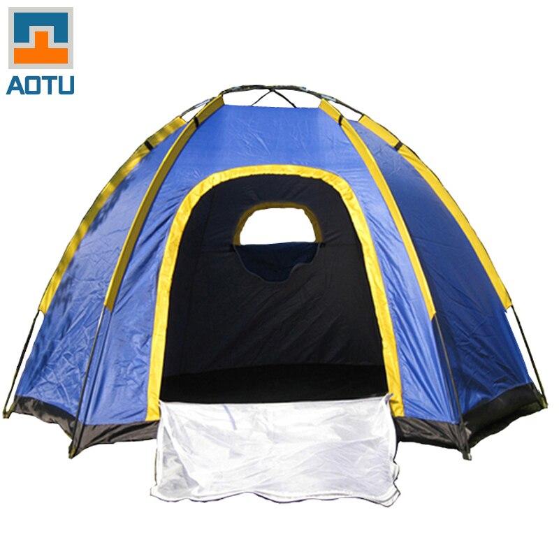 AOTU шесть углов кемпинговая палатка для 3-4 человек ветрозащитный непромокаемый УФ-устойчивый хорошая вентиляция Открытый путешествия порта...