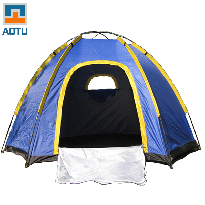 AOTU The Six Corners Camping Tent For 3-4 Persons Windproof Rainproof UV-resistant Good ventilation Outdoor Travel Portable outdoor camouflage cloth camping tent sun shelter simple tent windproof rainproof sunshade canopy waterproof cloth 3 3 m