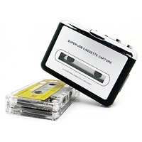 Hot New USB 2.0 Portable Tape to PC Super Cassette To MP3 Audio Music CD Digital Player Converter Capture Recorder +Headphone