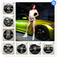 Home Decor Automobile Vehicle Modern Design 3D Vinyl Wall Clock Black Vinyl Car Wall Sticker Party Decoration