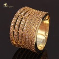 18K Real Gold Plated Brass Micro Pave white CZ Big Lord Rings 2016 Fashion JewelryXYR100254