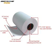 4 рулона 58 мм x 40 мм термобумага для чеков этикеток для портативного Bluetooth мини принтера для чеков этикеток