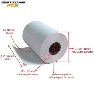 Image 1 - 4 рулона 58 мм x 40 мм термобумага для чеков этикеток для портативного Bluetooth мини принтера для чеков этикеток