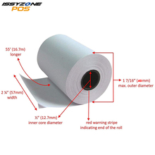 4 Rolls 58mm x 40mm Thermal Receipt Paper Label Papers For Portable Bluetooth Mini Label Receipt Printer