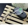 1 pc Folding Óculos de Leitura Metal Mix de Moda de Nova + 1.0 1.5 2.0 2.5 3.0 3.5 4.0 Grandes Lentes de Dioptria Com Caso Leitores Quadrados