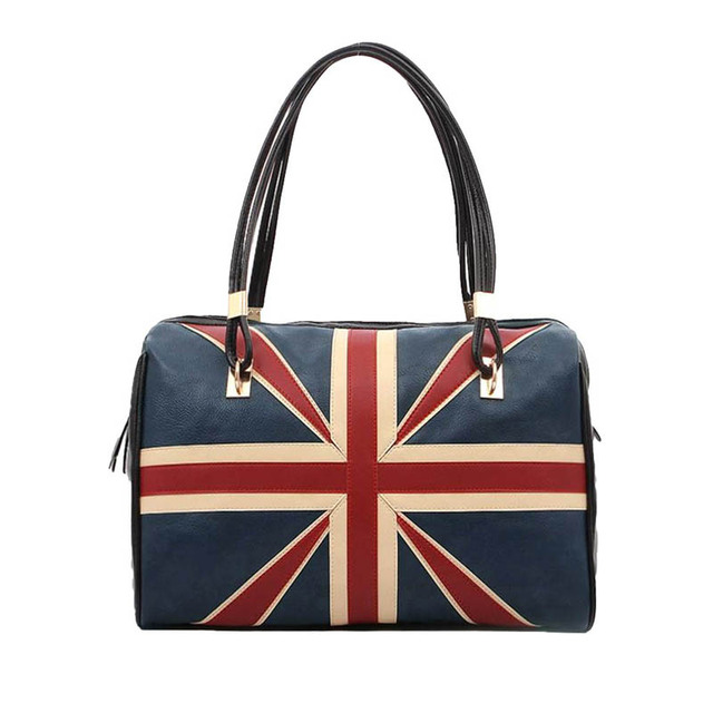 Women Bags 2017 Fashion Luxury Handbags Famous Brands Casual Tote Uk Flag Leather Handbag Shoulder