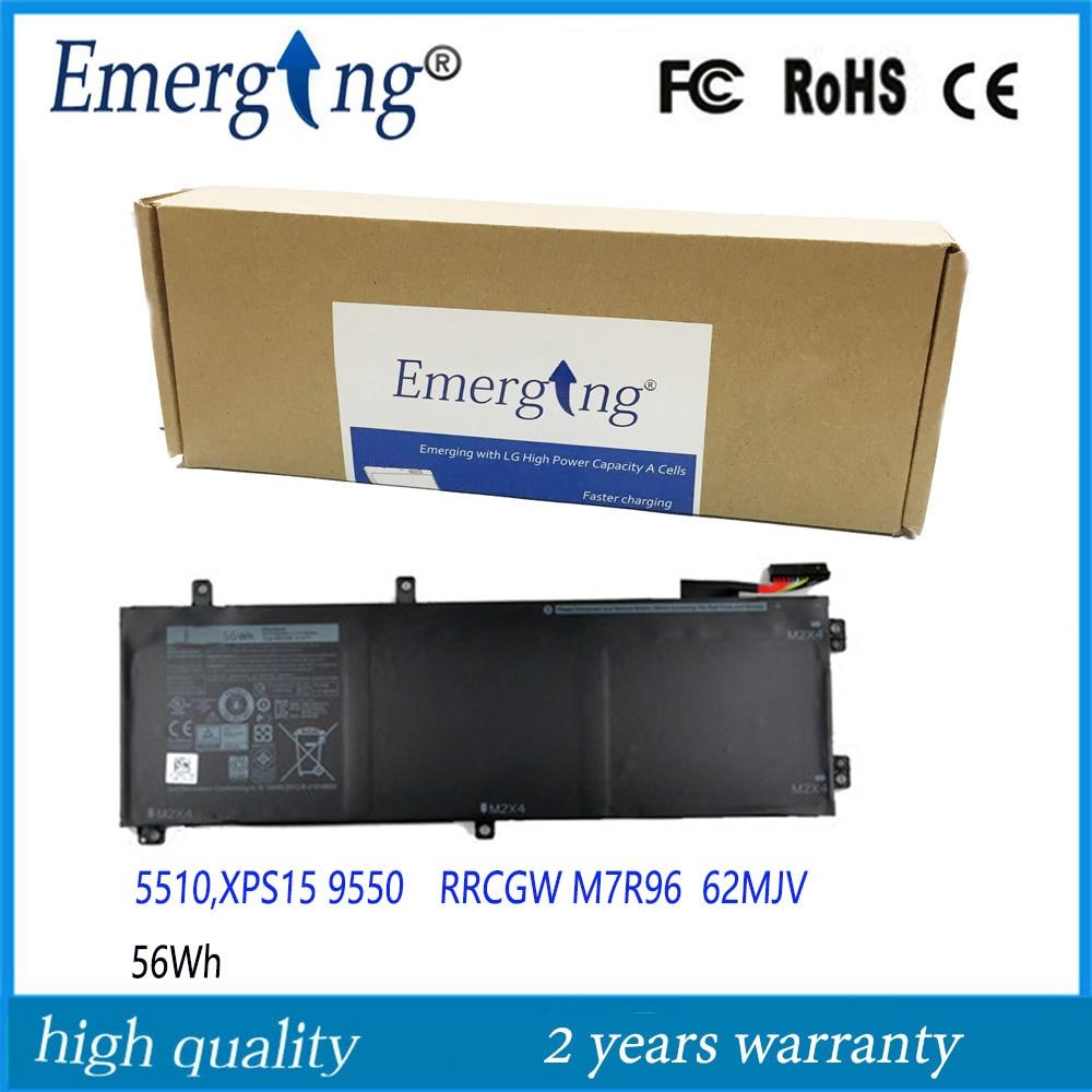 11.4v 56WH New Original Laptop Battery for Dell XPS 15 9550 Precision 5510 RRCGW M7R96 62MJV цена и фото