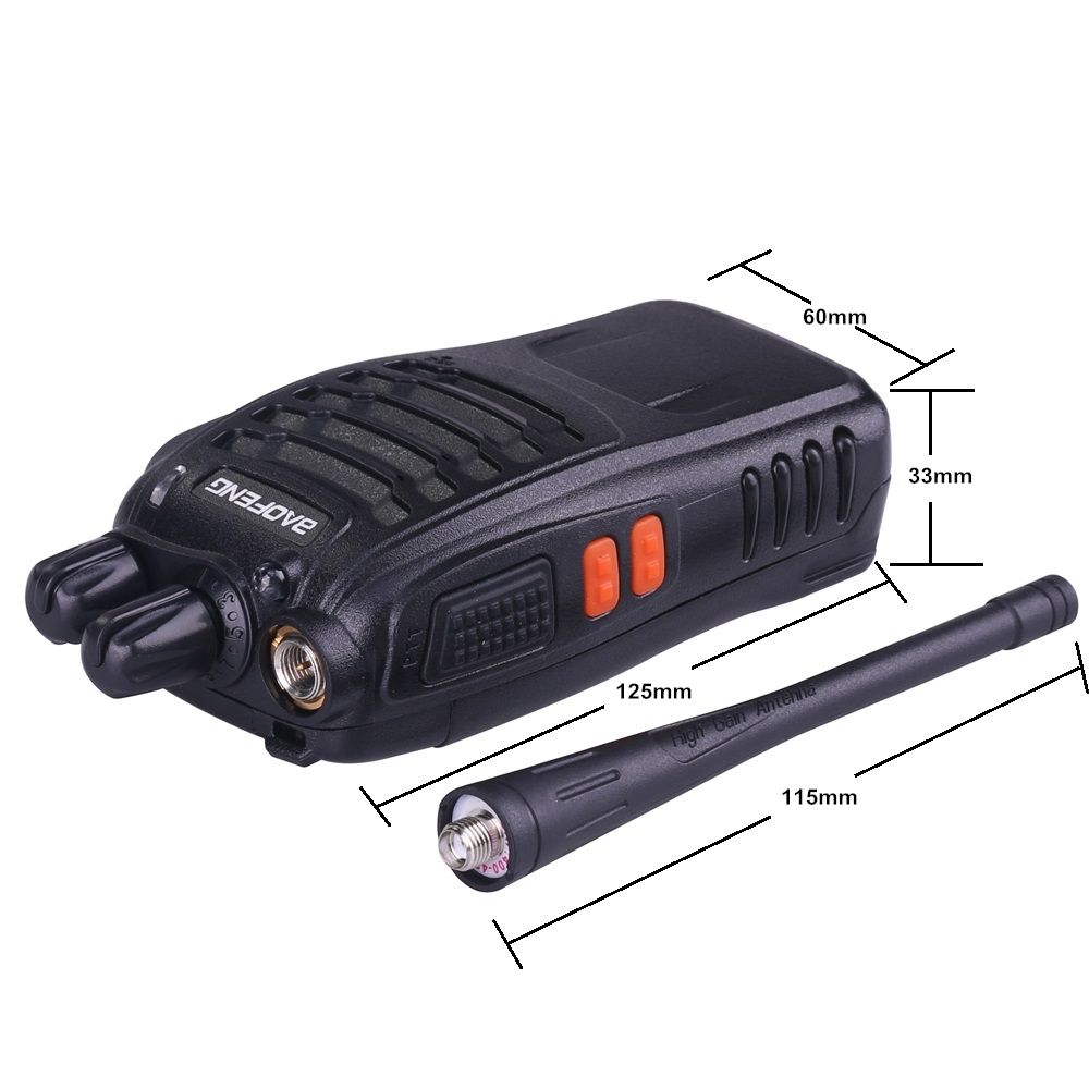 Image 5 - 4pcs Baofeng BF 888S Walkie Talkie UHF 5W 400 470MHz Handheld Two Way Radio hf FM Transceiver Comunicador Ham CB Radios BF 888s-in Walkie Talkie from Cellphones & Telecommunications